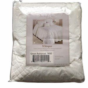 Quilted White Queen Bedspread